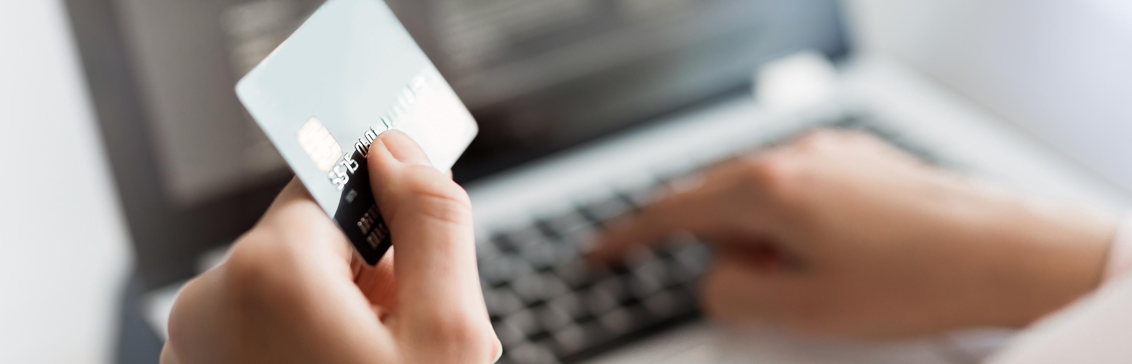 Bank Card Details Being Input Online