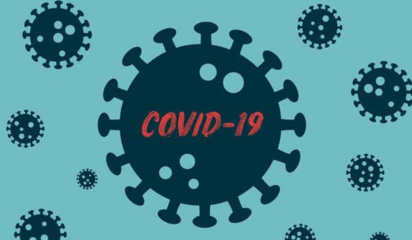 cartoon of microscopic covid-19 virus