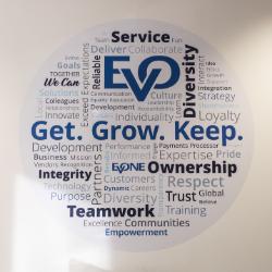 wall art displaying EVO career values