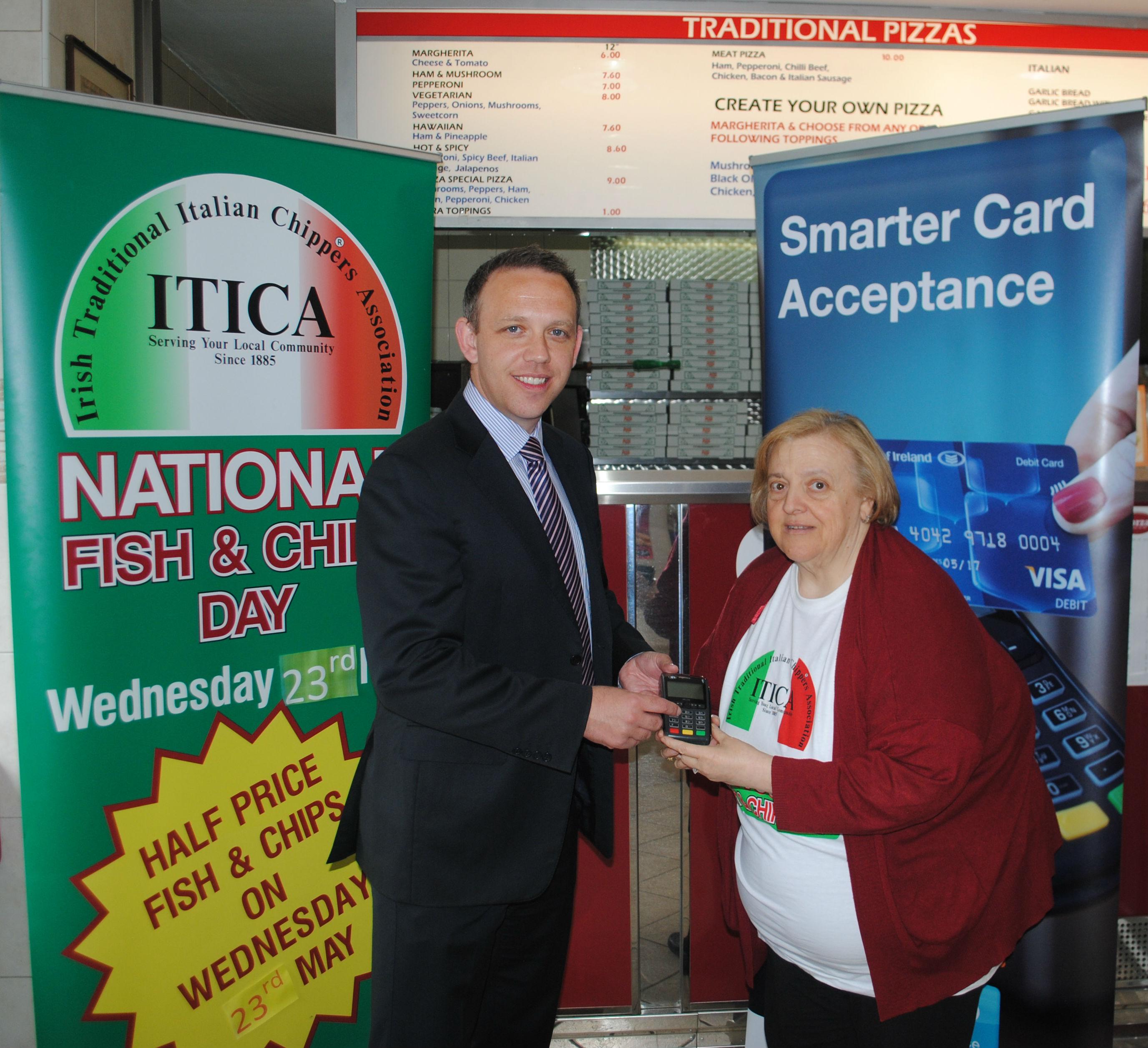 Niall Hayden of BOIPA with Teresa Borza Di'Nardi of ITICA