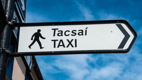 Pedestrian Sign for a Taxi Rank