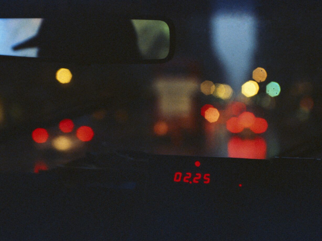 Meter in a Taxi at Night