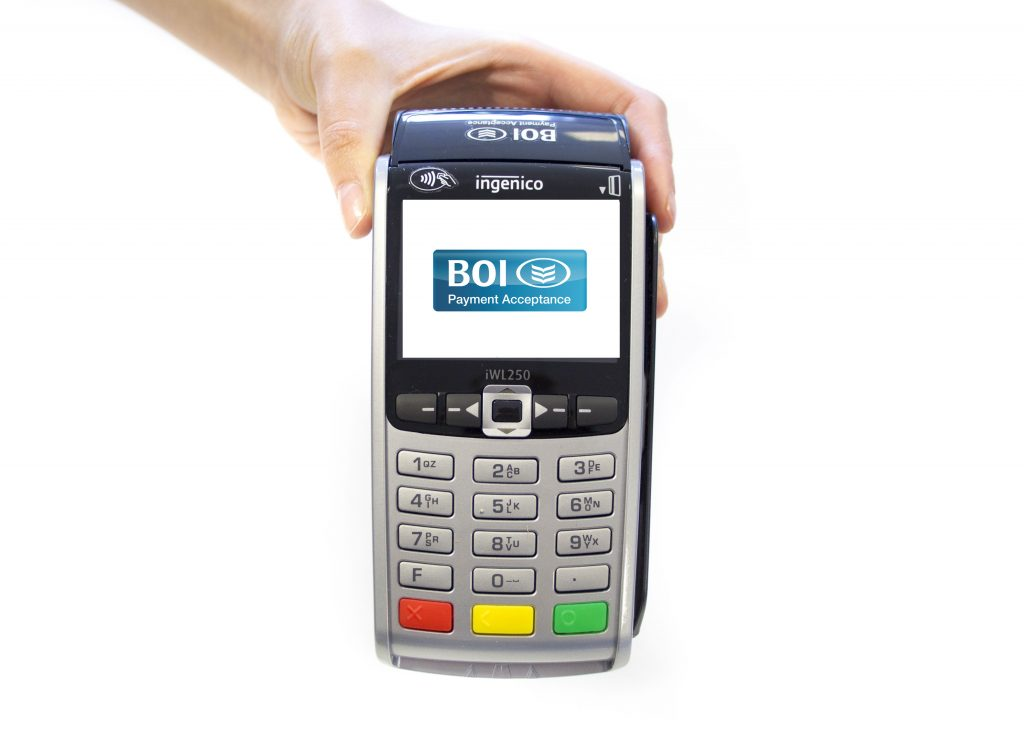 A BOIPA Card Payment Terminal that offers cashback